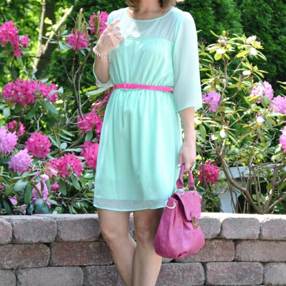 Everly Dresses & Skirts - Everly Mint Green Dress with sheer details